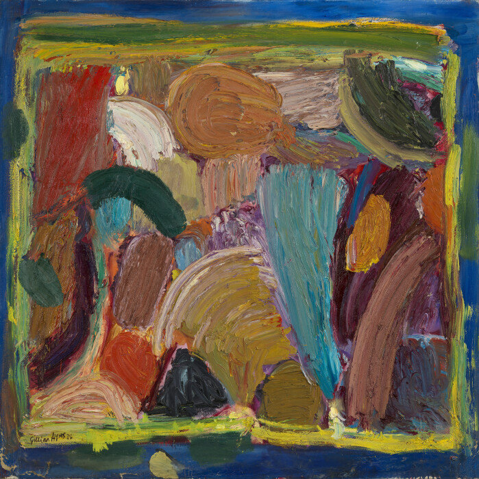 Ayres, 1000 Wild Fountains, 1986, oil on canvas, 54 1-8 x 54 1-8 in., 137.4 x 137.5 cm.