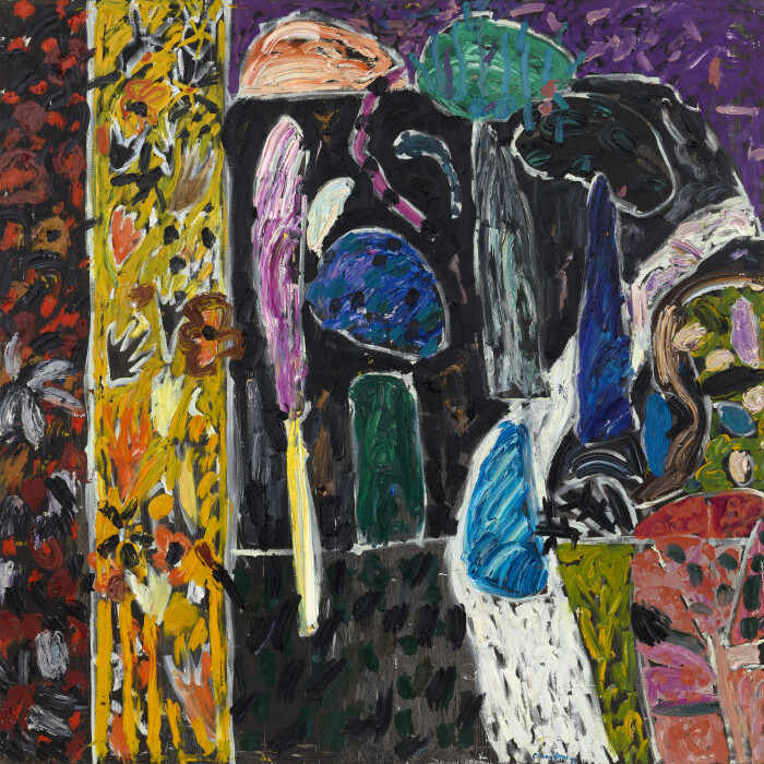 Ayres, The Bee Loud Glade, 1987, oil on canvas, 112 1-8 x 112 1-8 in., 285 x 285 cm