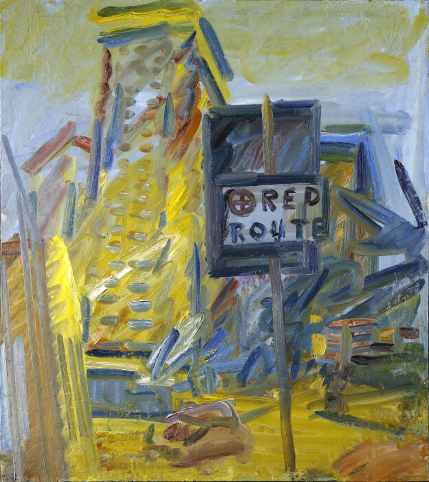 Frank Auerbach, Tower Block, Hampstead Road, 2007, oil on canvas, 52 1-8 x 46 1-8 in., 132.4 x 117.1 cm