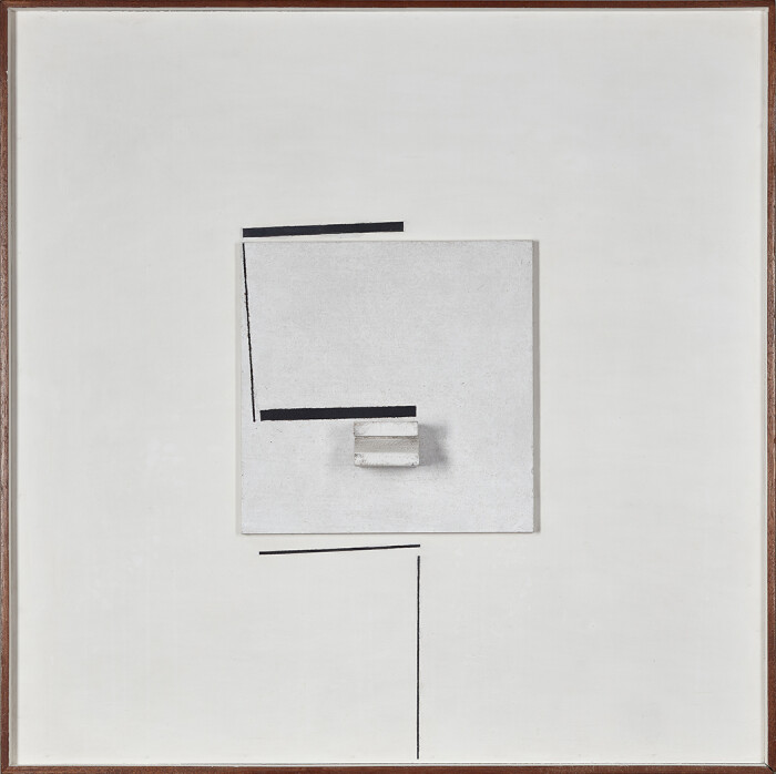 Pasmore, Pasmore, Square Image, 1971, projective relief (paint on board), 31 5-8 x 31 5-8 in., 80.5 x 80.5 cm