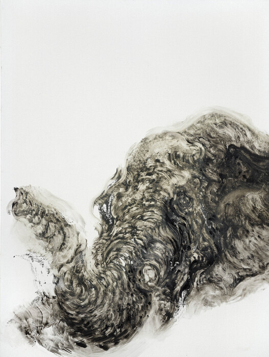22_Maggi Hambling_Elephant without tusk_oil on canvas 2019_48x36 inches