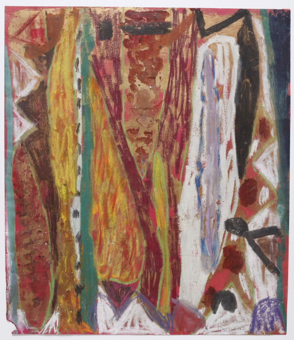Ayres, Untitled, 1982, oil on paper,  17 5-8 x 25 5-8 in., 45 x 52.4 cm