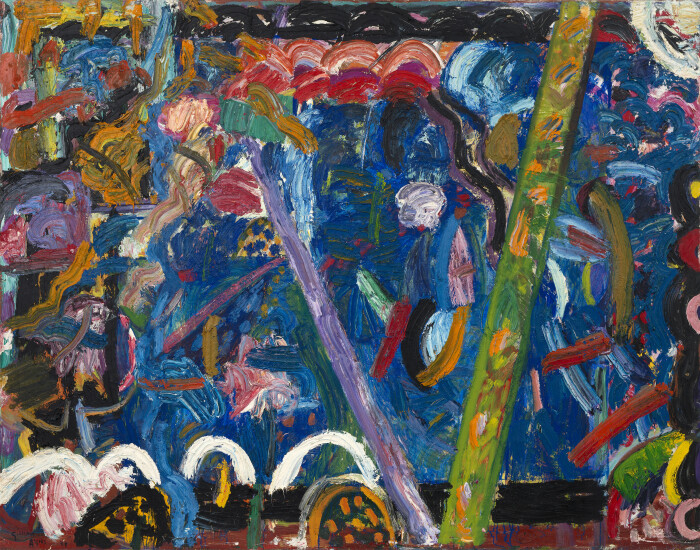 Ayres, Hydaspes, 1988, oil on canvas, 124 x 97 in., 315 x 246.5 cm