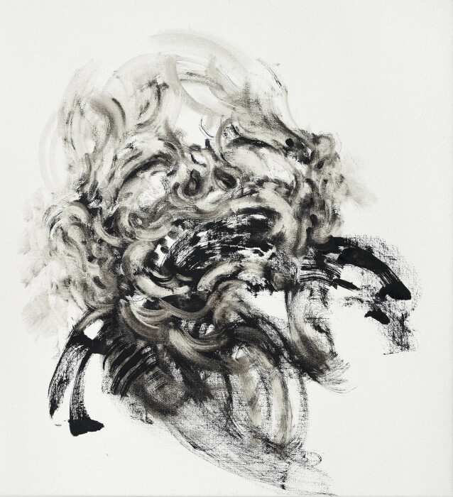 04_Maggi Hambling_Laughing 2_oil on canvas_2018_26x24 inches
