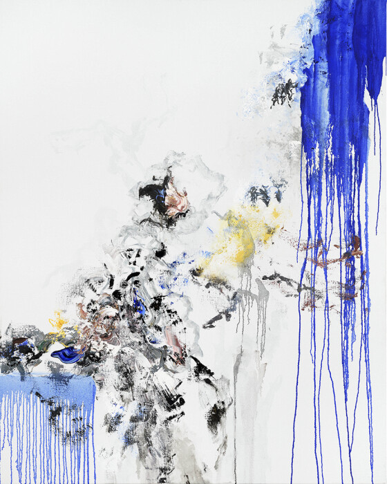32_Maggi Hambling_Self portrait, working_oil on canvas, 2020_60x48inches
