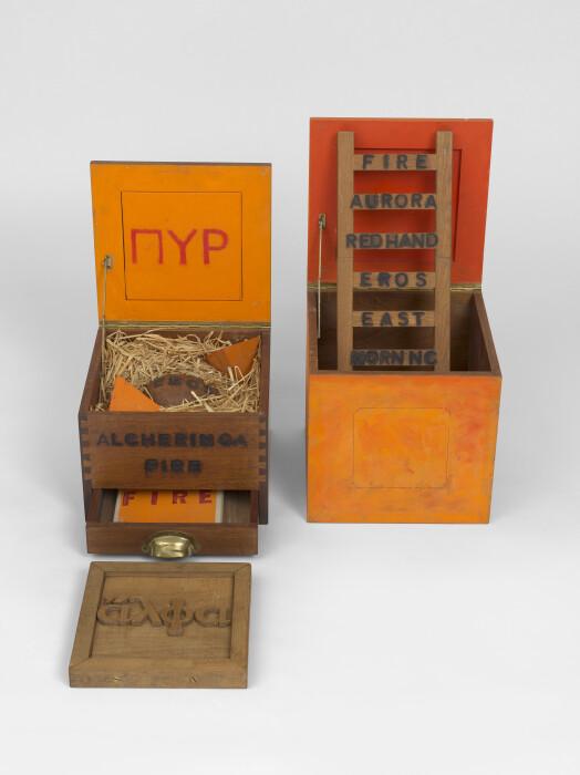Joe Tilson, Alcheringa Fire Box & Fire Box (1972)