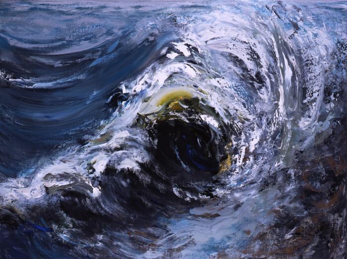 Hambling, Wave breaking, October II, 2006, oil on canvas, 36 x 48 in., 91.5 x 122 cm