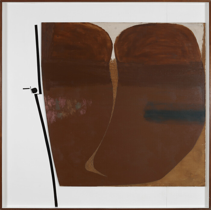Pasmore, Brown Development No3, 1964, oil on wood and plastic, 60 x 60 in, 152,5 x 152,5 cm