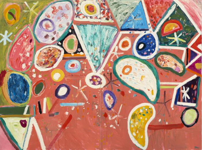 Ayres, Miranda's Land (diptych), 2003, oil on canvas, 72 x 96 in., 182.8 x 243.8 cm