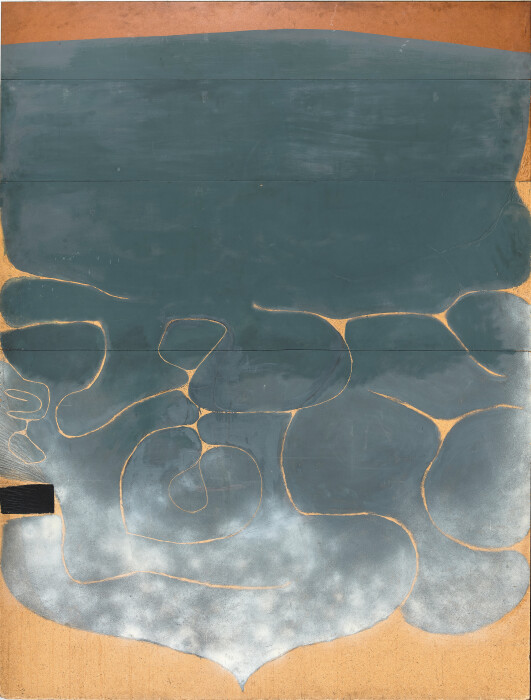 Pasmore, Grey Symphony, 1968-77, oil on board, 94 3-8 x 72 in., 240 x 183 cm, 314291